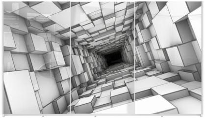 Panel szklany do szafy przesuwnej - tunnel