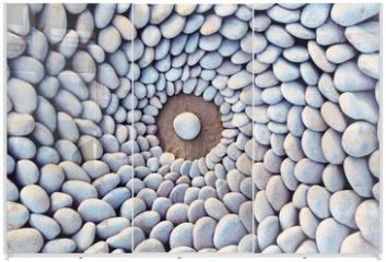 Panel szklany do szafy przesuwnej - Stone Circles