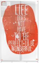 Panel szklany do szafy przesuwnej - Grunge poster