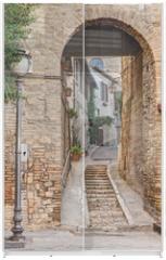 Panel szklany do szafy przesuwnej - ancient alley in Bevagna, Italy