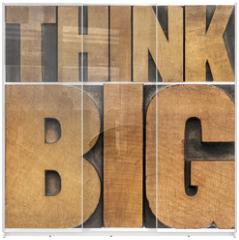 Panel szklany do szafy przesuwnej - think big in wood type