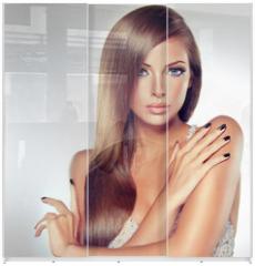 Panel szklany do szafy przesuwnej - Fashion Girl Portrait