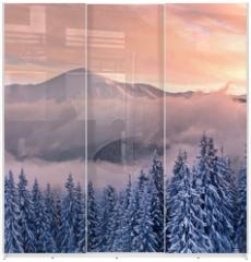 Panel szklany do szafy przesuwnej - mountain