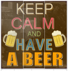 Panel szklany do szafy przesuwnej - Keep calm and have a beer poster