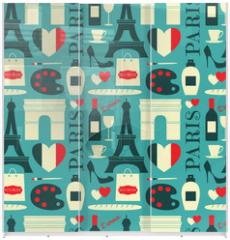 Panel szklany do szafy przesuwnej - Seamless Paris Background