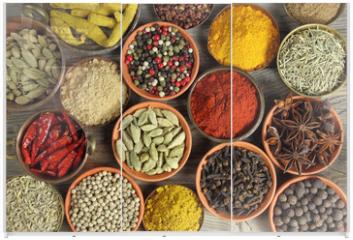 Panel szklany do szafy przesuwnej - Spices