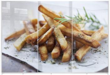 Panel szklany do szafy przesuwnej - frensh fries