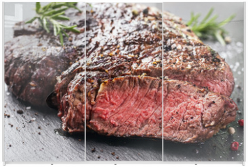 Panel szklany do szafy przesuwnej - steak