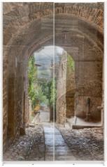 Panel szklany do szafy przesuwnej - antique Italian alley