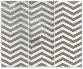 Panel szklany do szafy przesuwnej - Gray and White Zigzag Textured Fabric Background