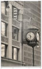 Panel szklany do szafy przesuwnej - Chicago downtown street view