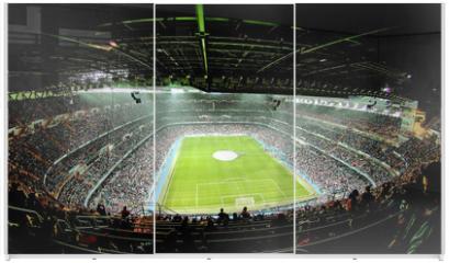 Panel szklany do szafy przesuwnej - foot ball stadium