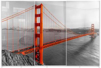 Panel szklany do szafy przesuwnej - Golden Gate, San Francisco, California, USA.