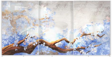 Panel szklany do szafy przesuwnej - Magic tree branch
