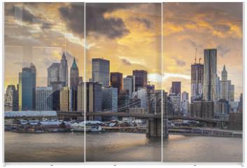 Panel szklany do szafy przesuwnej - New York City Skyline