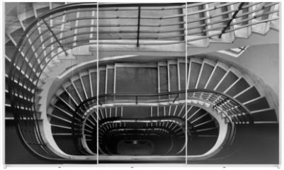 Panel szklany do szafy przesuwnej - Dark staircase