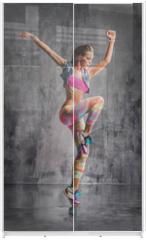 Panel szklany do szafy przesuwnej - the dancer