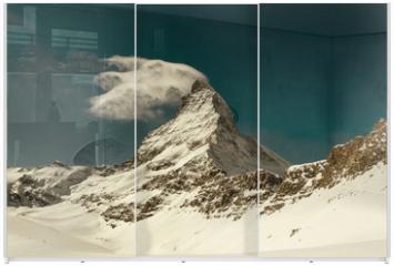Panel szklany do szafy przesuwnej - Matterhorn peak, Zermatt, Switzerland