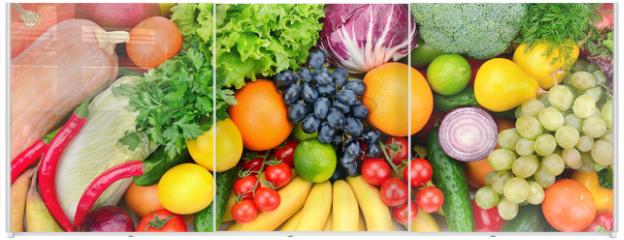 Panel szklany do szafy przesuwnej - fresh fruits and vegetables