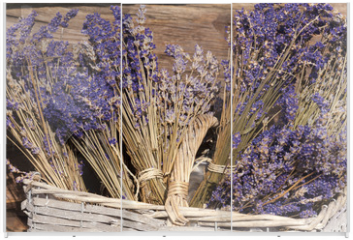 Panel szklany do szafy przesuwnej - Sommerernte - Lavendel getrocknet im Korb