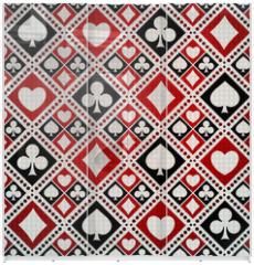 Panel szklany do szafy przesuwnej - Seamless background playing card suits
