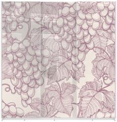 Panel szklany do szafy przesuwnej - ripe grapes