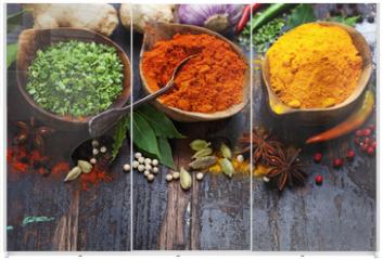 Panel szklany do szafy przesuwnej - Spices and herbs