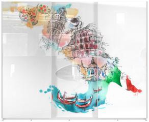 Panel szklany do szafy przesuwnej - Italy