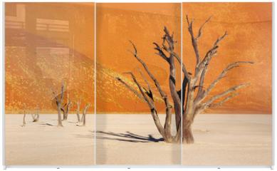 Panel szklany do szafy przesuwnej - Dead tree in Dead Vlei - Sossusvlei, Namib Desert, Namibia
