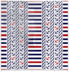 Panel szklany do szafy przesuwnej - Nautical seamless pattern. Vector illustration.