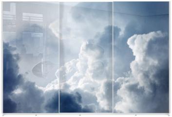 Panel szklany do szafy przesuwnej - Dramatic sky with stormy clouds
