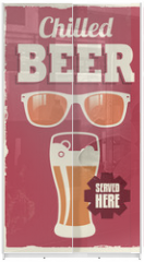 Panel szklany do szafy przesuwnej - Vintage retro beer sign - vector poster design