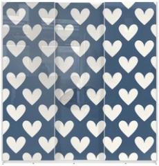 Panel szklany do szafy przesuwnej - Retro abstract vector seamless patterns