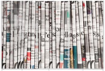 Panel szklany do szafy przesuwnej - collezione di quotidiani