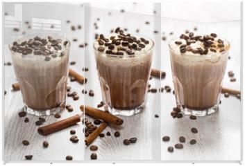 Panel szklany do szafy przesuwnej - Coffee cocktail with cream foam