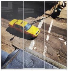 Panel szklany do szafy przesuwnej - Yellow Cab