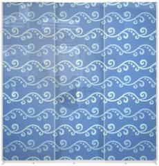 Panel szklany do szafy przesuwnej - Wave different seamless patterns (tiling)
