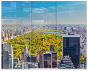 Panel szklany do szafy przesuwnej - View on central park, New York