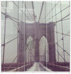 Panel szklany do szafy przesuwnej - Brooklynbridge, NYC, USA