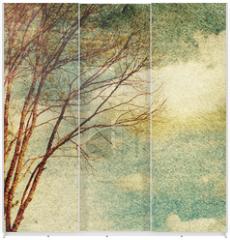 Panel szklany do szafy przesuwnej - Grunge vintage nature background