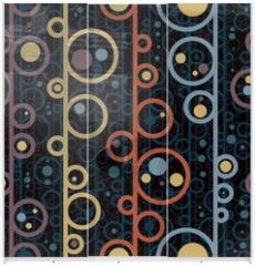 Panel szklany do szafy przesuwnej - Disco style circles seamless pattern.