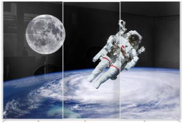 Panel szklany do szafy przesuwnej - Astronaut Earth Moon Space