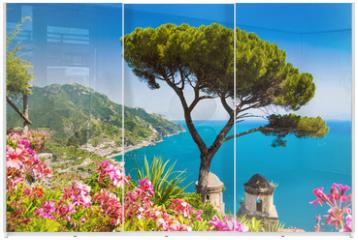 Panel szklany do szafy przesuwnej - Postcard view of Amalfi Coast, Ravello, Campania, Italy