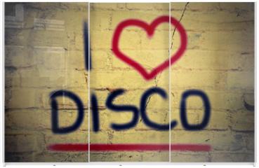 Panel szklany do szafy przesuwnej - I Love Disco Concept