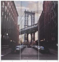Panel szklany do szafy przesuwnej - Manhattan bridge