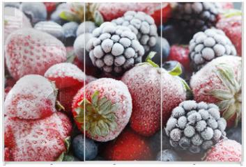 Panel szklany do szafy przesuwnej - frozen berries