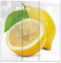 Panel szklany do szafy przesuwnej - juicy lemons isolated on the white background