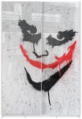 Panel szklany do szafy przesuwnej - The Joker