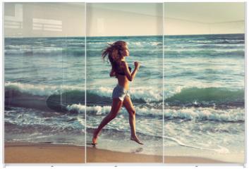 Panel szklany do szafy przesuwnej - active on beach