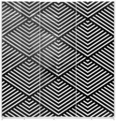 Panel szklany do szafy przesuwnej - Seamless geometric texture.